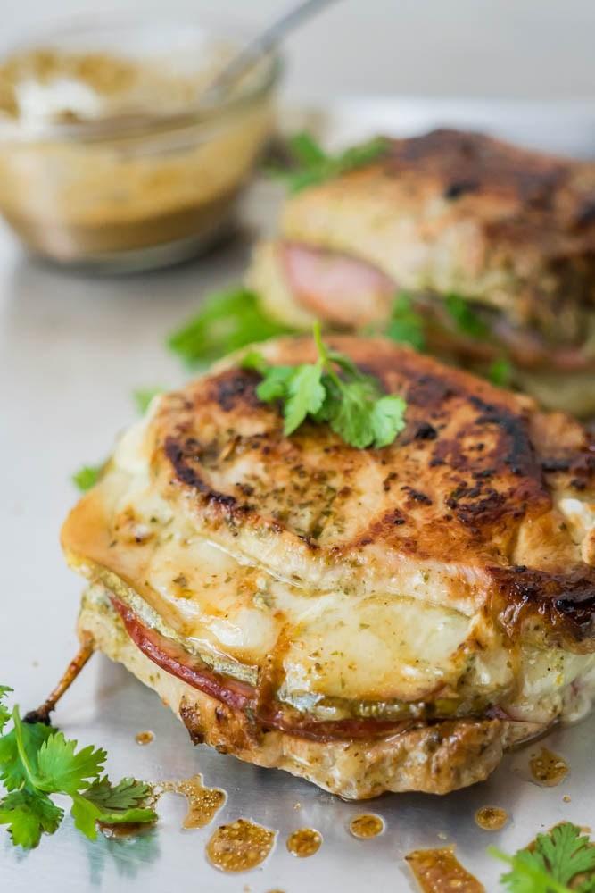 Cheese Stuffed Pork.