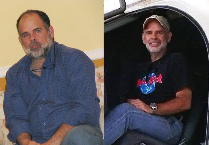 Jorge Luis G Before and After a Low Carb Diet.