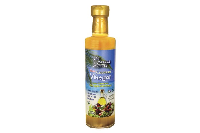 A Bottle of Coconut Vinegar by Coconut Secrets.