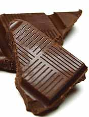 Pieces of Half-Eaten Dark Chocolate.