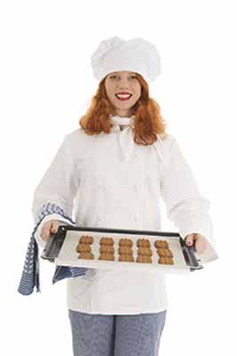 Lady with cookies made using swerve sweetener