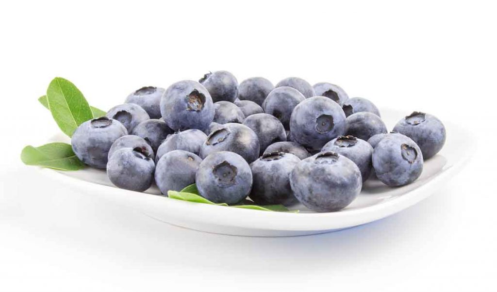 Picture of blueberries on a plate.
