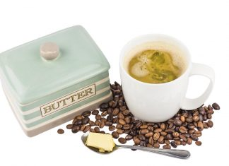 Picture of butter in coffee