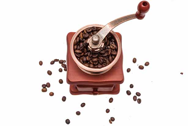 A Coffee Grinder Full of Beans.