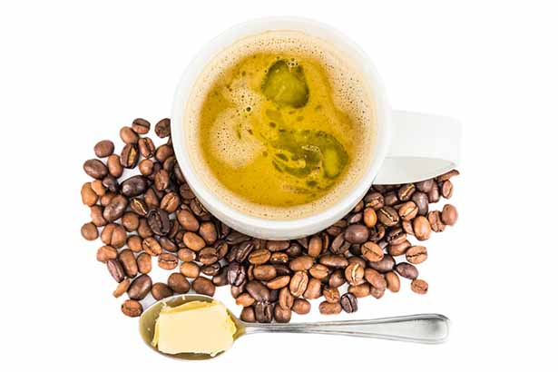 A Picture Showing Coffee With Lots of Butter In It.