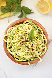 Picture of lemon herb zoodles
