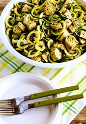 Picture of chicken pesto zoodles