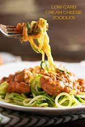 Picture of cream cheese zoodles