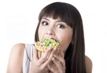 Picture of a lady with food addiction