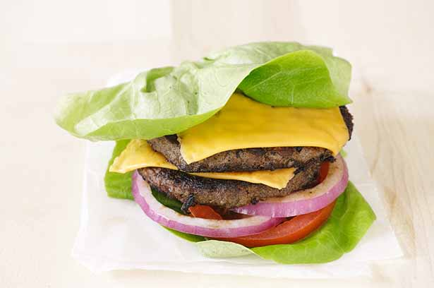 Fast Food Burger Lettuce Wrap