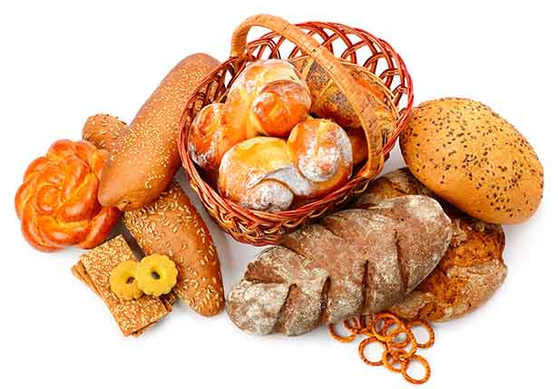 Picture of various breads - refined carbohydrates