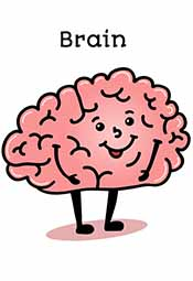 Picture of a happy brain