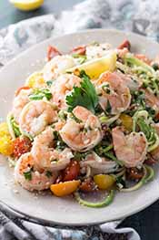Picture of shrimp scampi zoodles