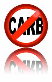Picture of a carb restriction sign to represent carb blockers