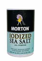 A Packet of Morton's All-Purpose Iodized Sea Salt.