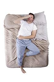 A Sleep-Deprived Man Who Cannot Get To Sleep.