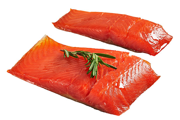 Two Fillets of Wild Alaskan Salmon.