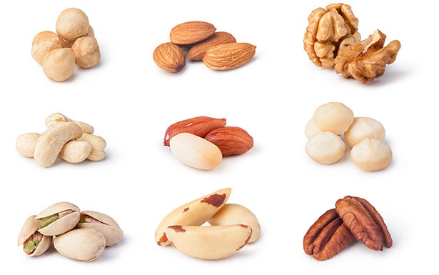 Various Nuts - Macadamia, Almond, Brazil, Walnuts, Hazelnuts and More.