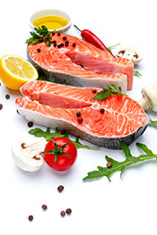 Picture of salmon - astaxanthin theme