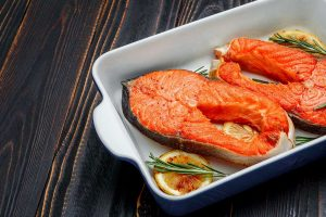 Picture of wild Alaskan sockeye salmon - health benefits article.