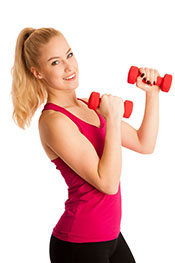 Picture of a Girl Exercising - a Healthy and Active Lifestyle is Important to Reduce Inflammation.
