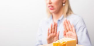 Picture of a Woman Avoiding Cheese. 19 Non-Dairy, Calcium-Rich Foods Article.