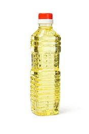 A bottle of soybean oil.
