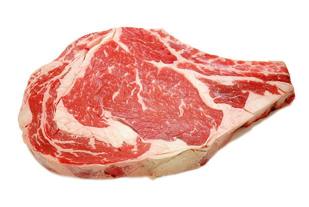 A Marbled Raw Steak.