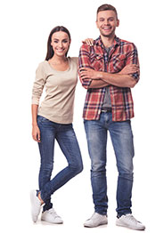 Picture of a healthy looking young couple - header image for article on how to reduce inflammation.