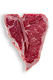 Picture of a fatty piece of t-bone steak - steak provides healthy fats