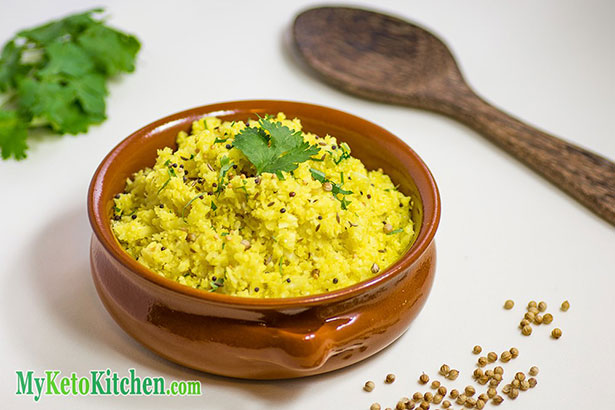 """Picture of """"Keto Indian Rice"""" made With Cauliflower."""