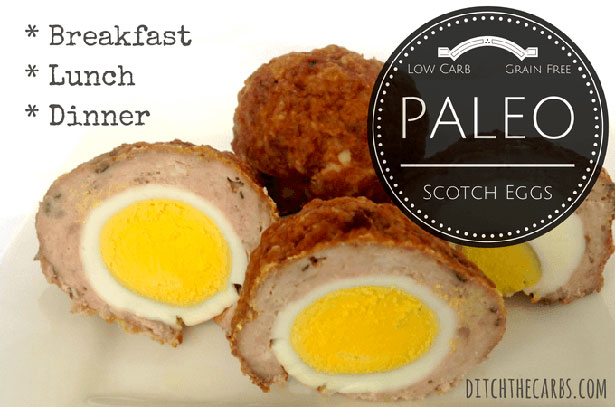 Picture of Paleo Scotch Eggs by Ditch the Carbs.
