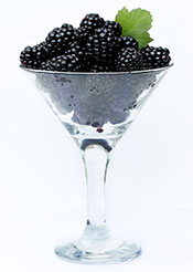 Picture of Blackberries In a Serving Glass.