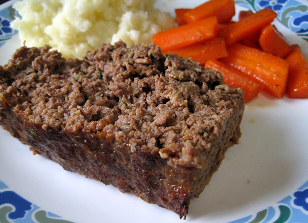 Picture of a low carb meatloaf made with parmesan cheese.