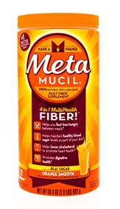 Picture of Metamucil - one of the most popular fiber supplements.