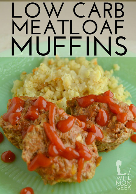 Picture of some low carb muffins made from meatloaf.