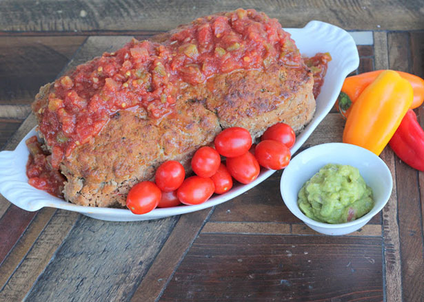 A Mexican-inspired meatloaf.