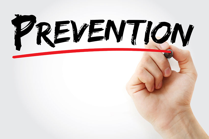 Picture of the word 'Prevention' in Big Writing - Nutrition and Health Theme