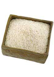 Psyllium Husk (a Fiber Supplement) In a Wooden Dish.