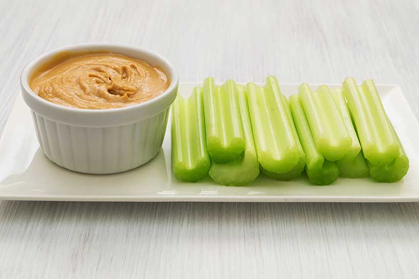 Celery Sticks and Peanut Butter Are a Decent Source of Protein.