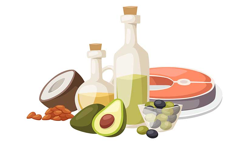 Sources of healthy fat for a ketogenic diet.