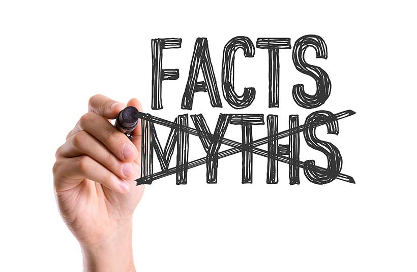 Picture showing facts and myths.