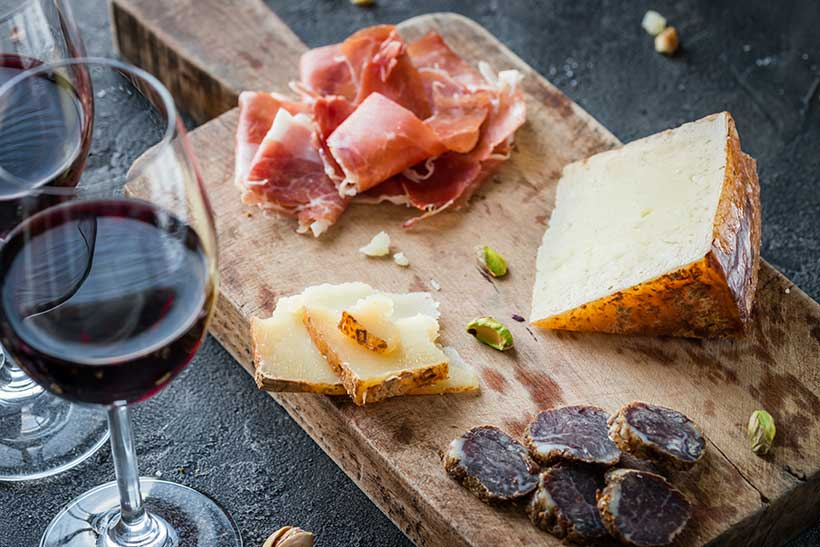 Cheese and Prosciutto Make a Great High Protein Snack
