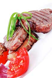 Steak and Vegetables.
