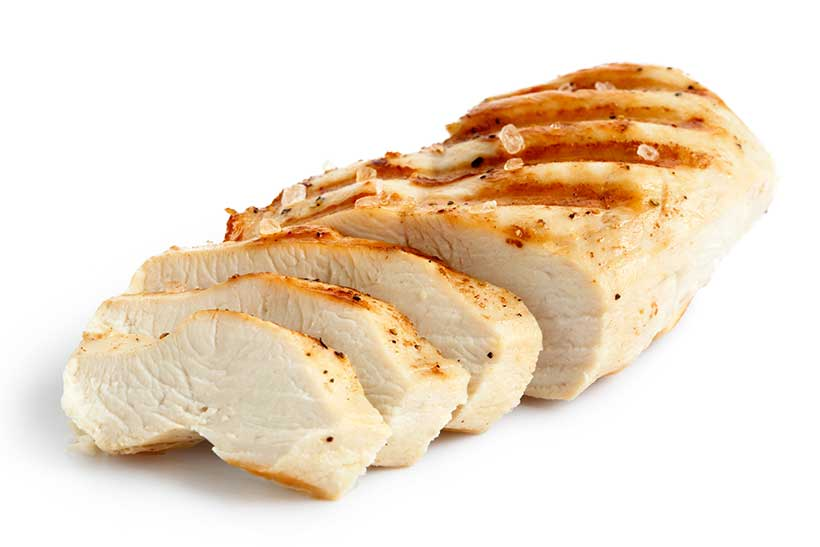 Picture of a Sliced Protein-Rich Chicken Breast.