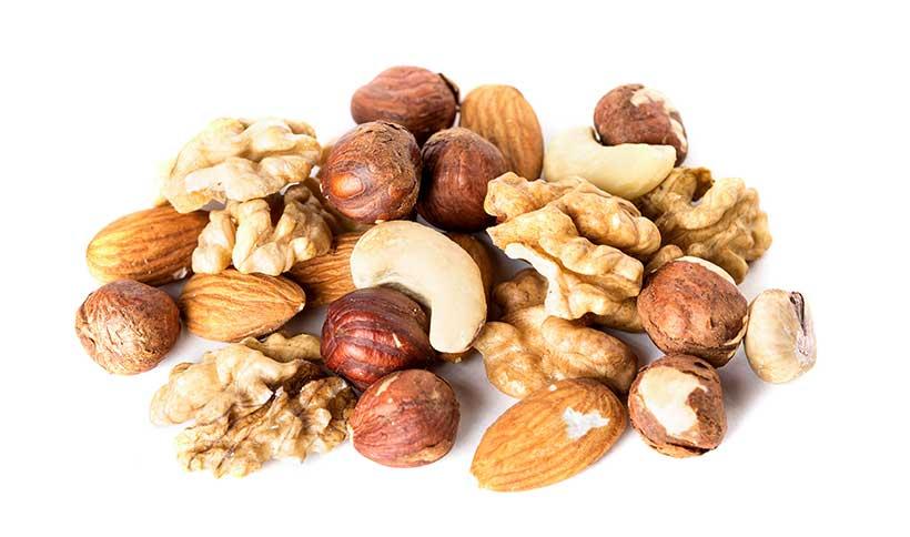 Mixed Nuts - Almonds, Hazelnuts, Brazil Nuts and Walnuts.