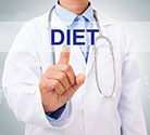 Picture of a Doctor With the Word Diet.