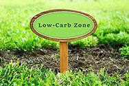 A Sign Saying 'Low Carb Zone'
