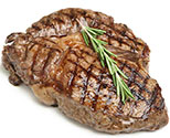 A Piece of Steak Cooked to Perfection.