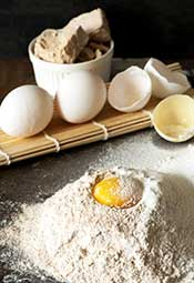 Refined Rye Flour and Eggs: A Common Baking Combination.
